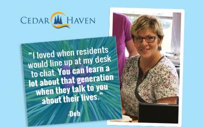 Staff Spotlight: Deb Muraira achieves 44 years of service at Cedar Haven