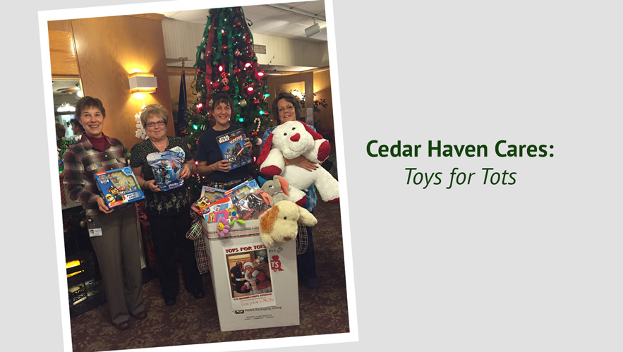 Cedar Haven Cares: Toys for Tots