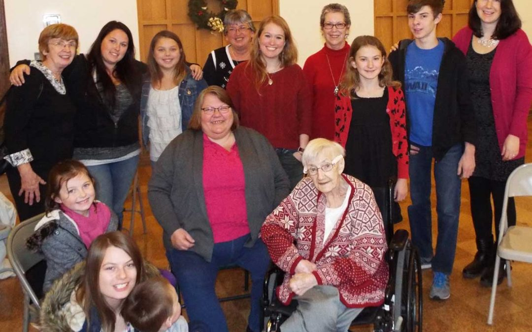 98-year-old Luella's Surprise Holiday Party!