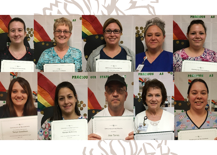 Congrats March Employees of the Month & Quarterly Recognition Award Winners