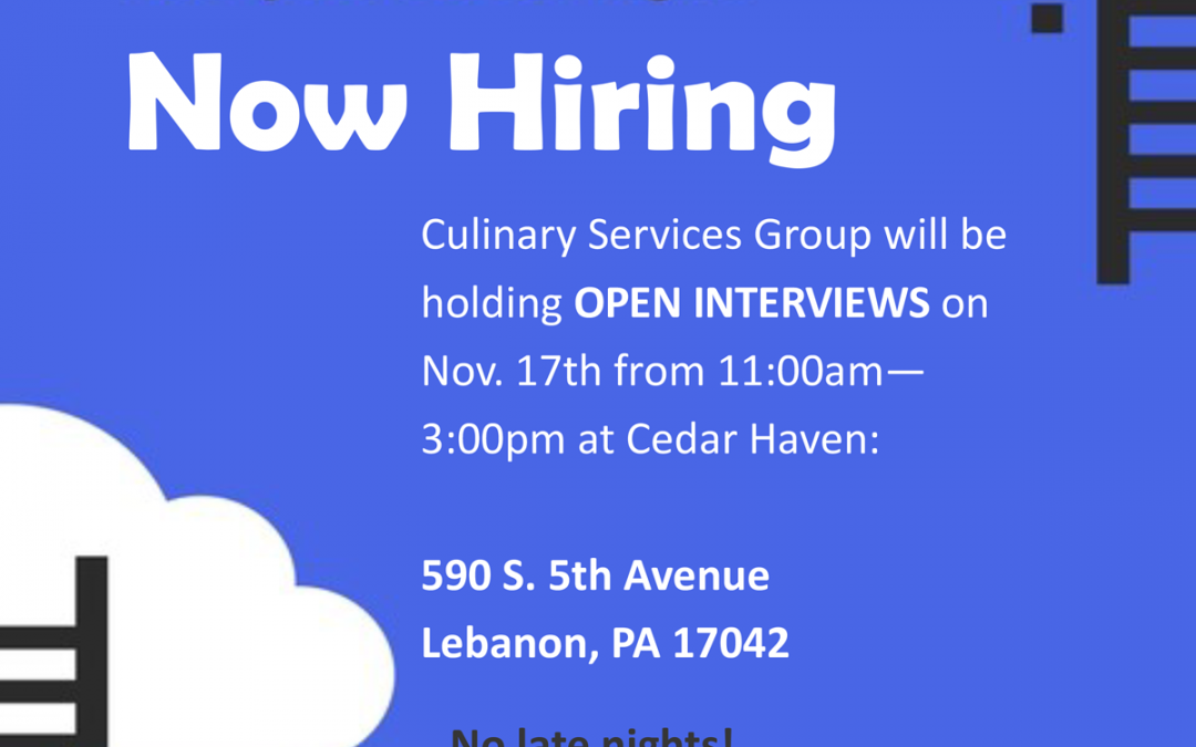 Culinary Services Group (CSG) Open Interviews