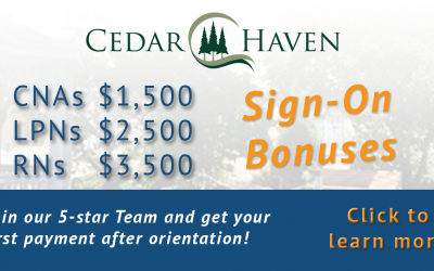 Join our 5-star Nursing Team and Receive a Sign-On Bonus!