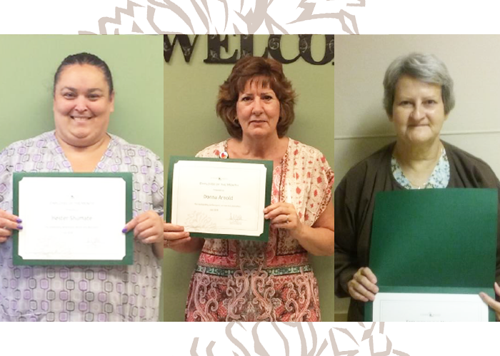 Celebrating our July Employees of the Month at Cedar Haven
