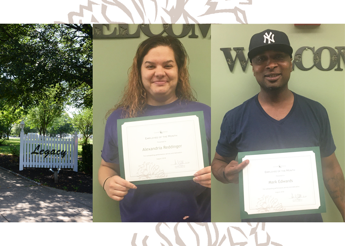 Congratulations August Employee of the Month Award Winners!