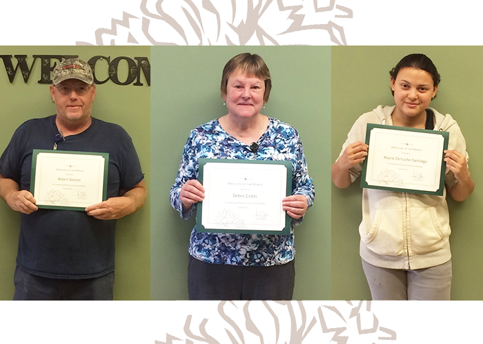 Congratulations October Employees of the Month!