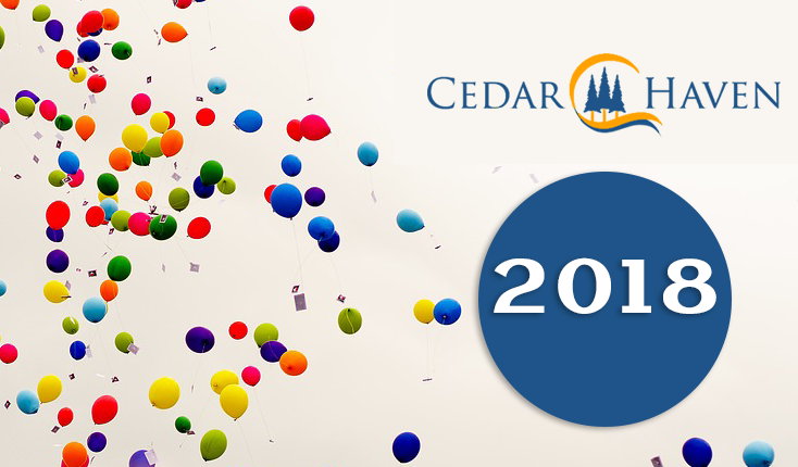 Congratulations on a year of extraordinary improvement and growth at Cedar Haven