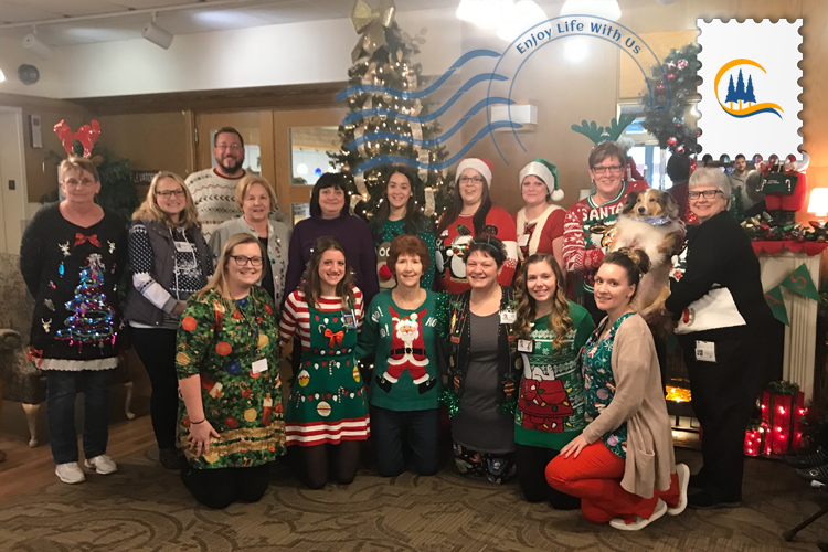 Students Caroling and Festive Sweaters at Cedar Haven – #EnjoyLifeWithUs