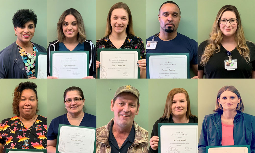 Congratulations March Employees of the Month and Quarterly Recognition Award Winners!