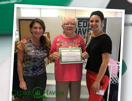 Congrats to Shirlee, a recent Short-term Rehab Graduate at Cedar Haven!