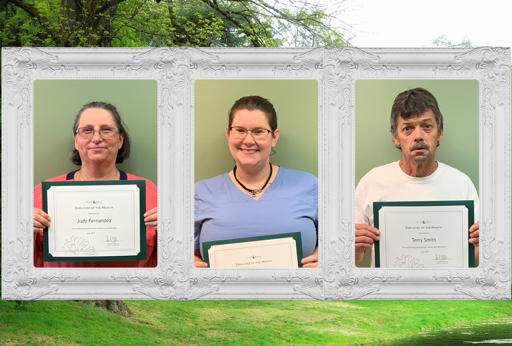 Congrats July Employees of the Month