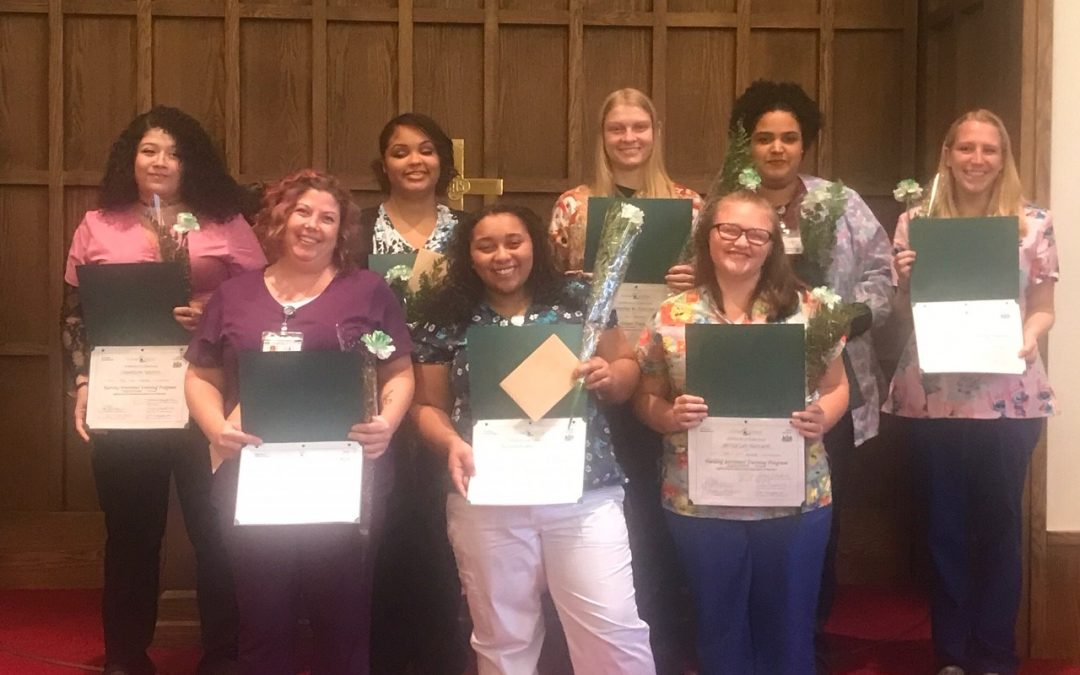NAT Class Graduation – Welcome to the Cedar Haven team!