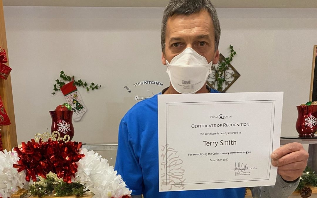 Congratulations Terry Smith – Employee of the Week Award