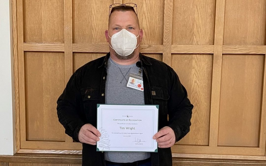 Staff Spotlight: Tim Wright, Employee of the Week Award Recipient!